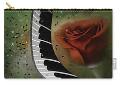 The Magic Of Love And Music Carry-all Pouch by Diane Schuster