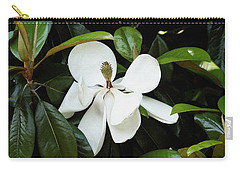 Carry-all Pouch featuring the photograph The Magnolia Bloom  by James C Thomas