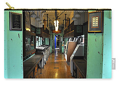 Carry-all Pouch featuring the photograph The Mail Car From The Series View Of An Old Railroad by Verana Stark