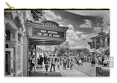 Carry-all Pouch featuring the photograph The Main Street Cinema by Howard Salmon