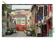 Carry-all Pouch featuring the photograph The Majestic Theater Chinatown Singapore by Imran Ahmed