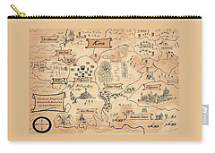 Carry-all Pouch featuring the painting The Map Of Kira by Reynold Jay