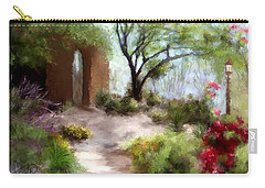 The Meditative Garden  Carry-all Pouch by Colleen Taylor