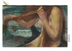 The Mermaid Carry-all Pouch by John William Waterhouse