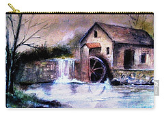 Carry-all Pouch featuring the painting The Millstream by Hazel Holland