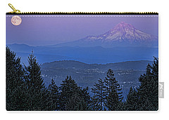 The Moon Beside Mt. Hood Carry-all Pouch