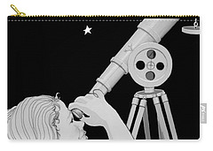 Carry-all Pouch featuring the digital art The Moon Looks Back by Carol Jacobs