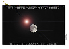 Carry-all Pouch featuring the photograph The Moon by Pennie  McCracken