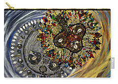Carry-all Pouch featuring the tapestry - textile The Moon's Eclipse by Apanaki Temitayo M