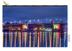 Carry-all Pouch featuring the photograph Morrison Bridge - Pdx  by Thom Zehrfeld