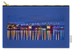 Carry-all Pouch featuring the photograph Morrison Bridge Reflections by Thom Zehrfeld