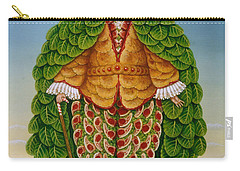The New Vestments Ivor Cutler As Character In Edward Lear Poem, 1994 Oils And Tempera On Panel Carry-all Pouch by Frances Broomfield