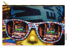 Carry-all Pouch featuring the photograph The New York City Tourist by Chris Lord