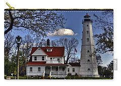 Carry-all Pouch featuring the photograph The Northpoint Lighthouse by Deborah Klubertanz