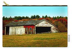 Carry-all Pouch featuring the photograph The Old Barn by Bruce Carpenter