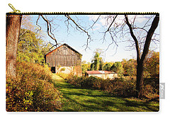 Carry-all Pouch featuring the photograph The Old Barn by Trina  Ansel