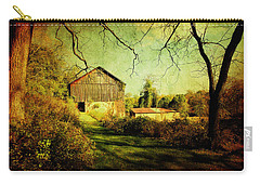 Carry-all Pouch featuring the photograph The Old Barn With Texture by Trina  Ansel