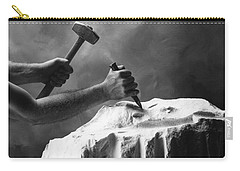 Carry-all Pouch featuring the photograph Chipping The Old Block by Mark Greenberg