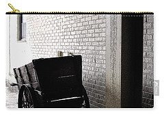 Carry-all Pouch featuring the photograph The Old Cart From The Series View Of An Old Railroad by Verana Stark