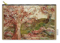Carry-all Pouch featuring the painting The Old Fence Line by Mary Wolf