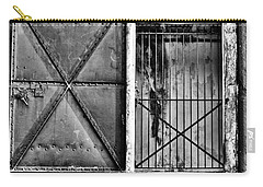 The Old Fort Gate-black And White Carry-all Pouch
