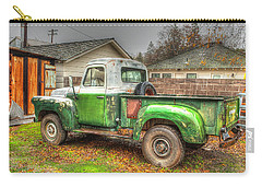 Carry-all Pouch featuring the photograph The Old Green Truck by Jim Thompson