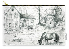 The Old Horse Farm Carry-all Pouch by Bernadette Krupa