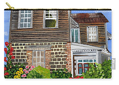 Carry-all Pouch featuring the painting The Old House by Laura Forde
