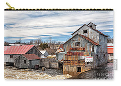 The Old Mill And The Raging River Carry-all Pouch