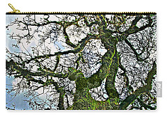 The Old Mossy Oak Tree Against Cloudy Sky Carry-all Pouch