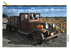 Carry-all Pouch featuring the photograph The Old Pumpkin Patch by Michael Gordon