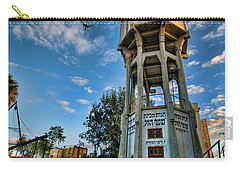 Carry-all Pouch featuring the photograph The Old Water Tower Of Tel Aviv by Ron Shoshani