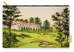 Carry-all Pouch featuring the painting The Olympic Golf Club - 18th Hole by Bill Holkham