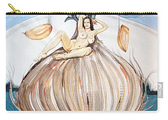Carry-all Pouch featuring the painting The Onion Maiden And Her Hair La Doncella Cebolla Y Su Cabello by Lazaro Hurtado