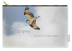 Carry-all Pouch featuring the photograph The Osprey by DigiArt Diaries by Vicky B Fuller