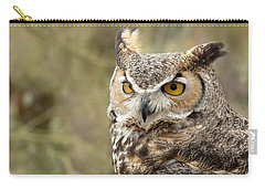 Carry-all Pouch featuring the photograph The Owl by Lucinda Walter