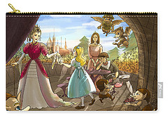 Carry-all Pouch featuring the painting The Palace Balcony by Reynold Jay