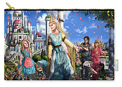 Carry-all Pouch featuring the painting The Palace Garden  by Reynold Jay