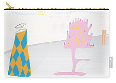 Carry-all Pouch featuring the digital art The Partygoers by Kevin McLaughlin