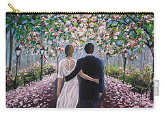 Carry-all Pouch featuring the painting The Path Of Love  by Vesna Martinjak