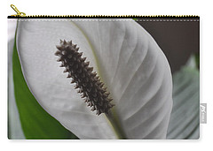 Carry-all Pouch featuring the photograph The Peace Lily by Verana Stark