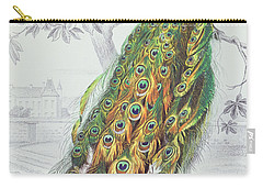 The Peacock Carry-all Pouch by A Fournier