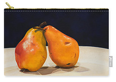 Carry-all Pouch featuring the painting The Pearfect Pair by Dee Dee  Whittle