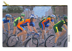 Carry-all Pouch featuring the painting The Peloton by Karen Ilari