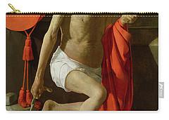 The Penitent St Jerome  Carry-all Pouch by Georges de la Tour