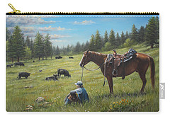 Carry-all Pouch featuring the painting The Perfect Day by Kim Lockman