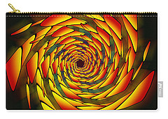 Carry-all Pouch featuring the drawing The Phi Stargate by Derek Gedney