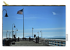 Carry-all Pouch featuring the photograph The Pier by Michael Gordon