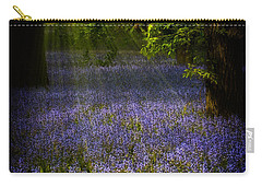 Carry-all Pouch featuring the photograph The Pixie's Bluebell Patch by Chris Lord