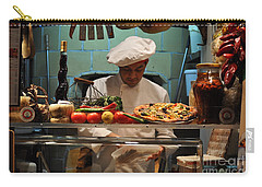 The Pizza Maker Carry-all Pouch by Mary Machare